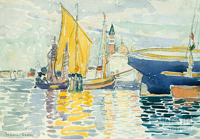 Reflecting Water Painting -  Venice, The Giudecca, 1903 by Henri Edmond Cross