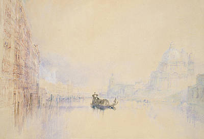 Venice  The Grand Canal Art Print by Joseph Mallord William Turner