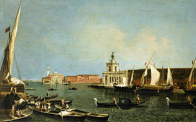 Venice Ca Painting - Venice, The Punta Della Dogana From The Ca Giustinian Looking South Across The Basino De San Marco  by Michele Marieschi