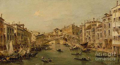 Venice  The Rialto Art Print by Francesco Guardi