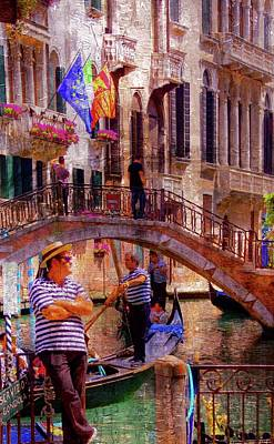 Brian Lukas Photograph - Venice- The Waiting Gondolier by Brian Lukas
