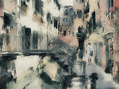 Digital Art - Venice Touring by Yury Malkov
