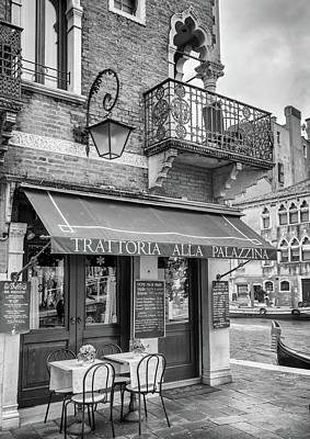 Photograph - Venice Trattoria On A Canal by Georgia Fowler
