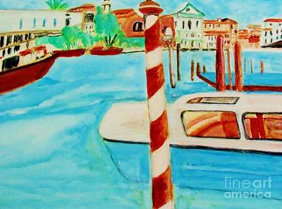 Painting - Venice Travel By Boat by Stanley Morganstein