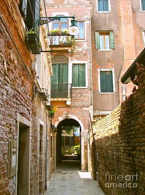 Venice- Venezia-calle Veneziana Art Print
