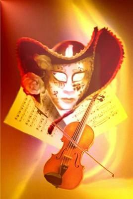 Venice Violinist Art Print by Norman Reutter