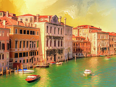 Painting - Venice Water Taxis by Dominic Piperata