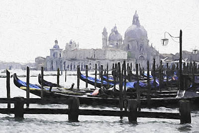 Digital Art - Venice Waterfront by Dennis Cox WorldViews
