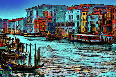 Photograph - Venice Waterway 16418 by Ray Shrewsberry