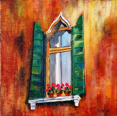 Painting - Venice Window by Diane Arlitt