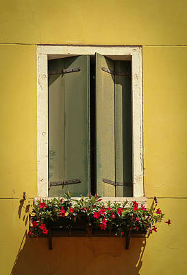 Photograph - Venice Window In Green by Kathleen Scanlan