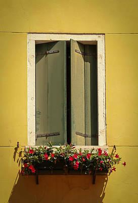 Photograph - Venice Window In Green by Kathleen Scanlan