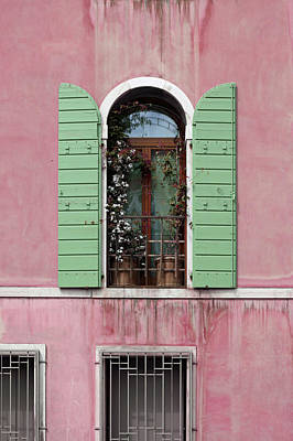 Photograph - Venice Window In Pink And Green by Brooke T Ryan