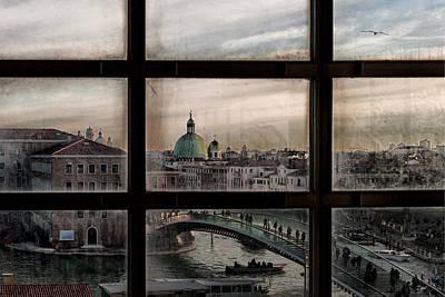 Canal Photograph - Venice Window by Roberto Marini