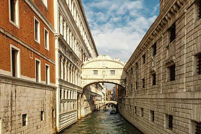 Italian Photograph - Venice's Bridge Of Sighs by Andrew Soundarajan