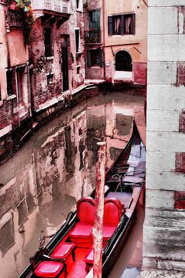 Photograph - Venician Gondola Parked by Greg Sharpe