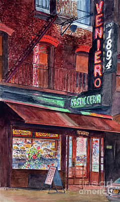 Lower East Side Painting - Venieros Pasticeria by Anthony Butera