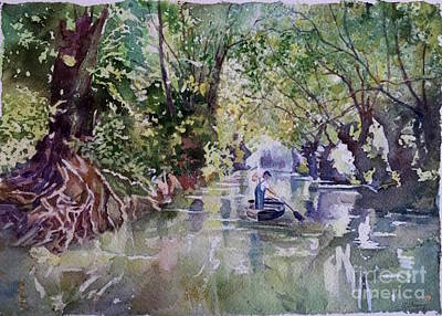 Arbres Verts Painting - Venise Verte by Francoise Chauray