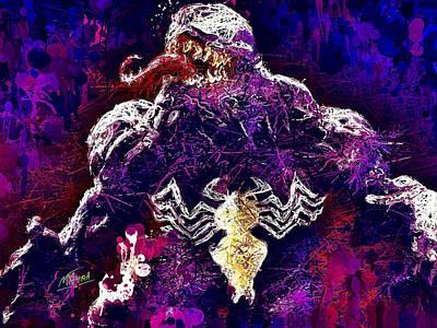 Mixed Media - Venom by Al Matra
