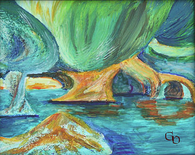 Painting - Vensoog - Hidden Lake 2 by Gail Daley