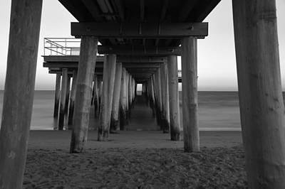 Photograph - Ventnor Pier B/w by Jennifer Ancker