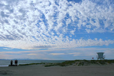 Photograph - Ventura Beach With Blue Sky And  Puffy Clouds by Ram Vasudev
