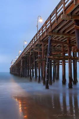 Ventura Ca Pier At Dawn Art Print