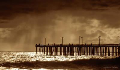 Photograph - Ventura California Pier, 1969 by John A Rodriguez