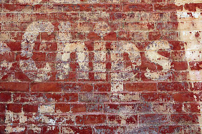 Photograph - Ventura Chips Ghost Sign by Art Block Collections