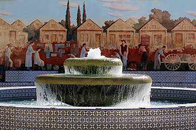 Photograph - Ventura Fountain And Mural by Art Block Collections