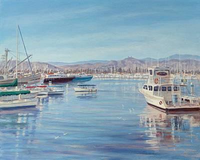 Harbor Drawing - Ventura Harbor II by Tina Obrien