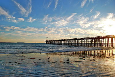Photograph - Ventura Pier At Sunset by Liz Vernand