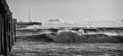 Photograph - Ventura Pier El Nino 2016 by John A Rodriguez