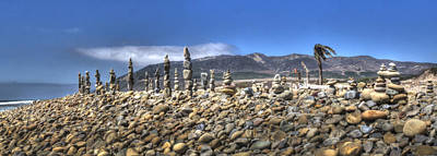 Photograph - Ventura River Rock Art Panorama  by Joe  Palermo