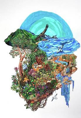 Condor Drawing - Ventura River Watershed by Sarah Holst