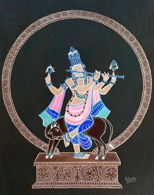 Painting - Venu Gopala  by Pratyasha Nithin