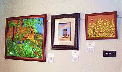Nashville Tennessee Painting - Venue @ Green Hills Library - Art Exhibit by Peggy Leyva Conley