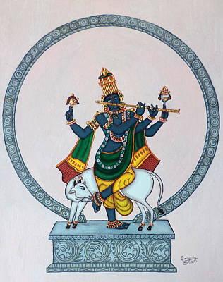 Painting - Venugopala by Pratyasha Nithin