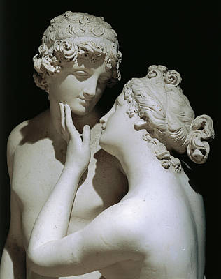 White Marble Photograph - Venus And Adonis by Antonio Canova