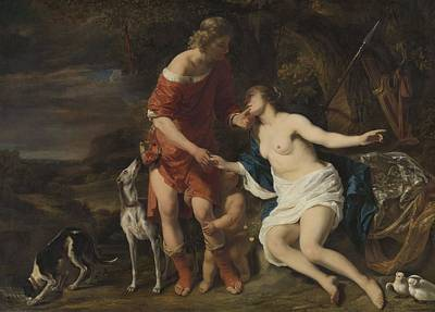Painting - Venus And Adonis by R Muirhead Art