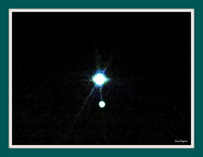 Photograph - Venus And Jupiter In Conjunction 2 July 2015 by Leanne Seymour