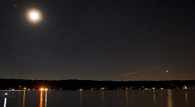 Photograph - Venus And Jupiter Over Conesus by Richard Engelbrecht