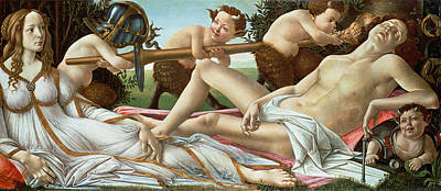 Renaissance Angel Painting - Venus And Mars by Sandro Botticelli