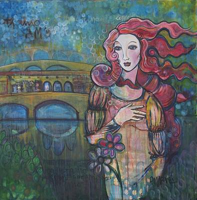 Painting - Venus And The Ponte Vecchio  by Laurie Maves ART