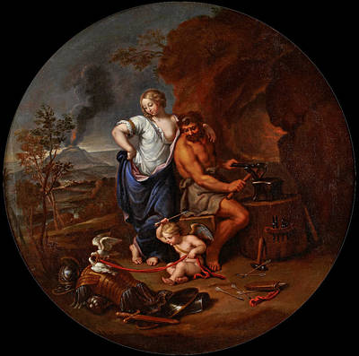 Volcano Goddess Painting - Venus And Vulcan by Pierre Mignard