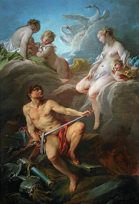 Swan Goddess Painting - Venus Asking Vulcan For Arms For Aeneas by Francois Boucher