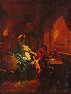 The Forge Of Vulcan Painting - Venus At The Forge Of Vulcan  by Jean-Baptiste Jouvenet