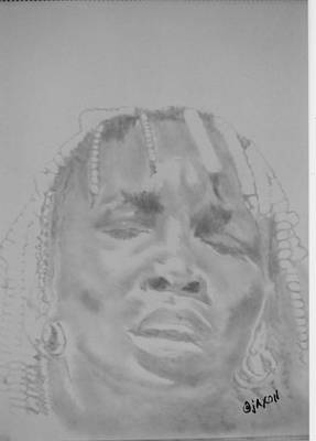 Venus Williams Drawing - Venus by B Jaxon