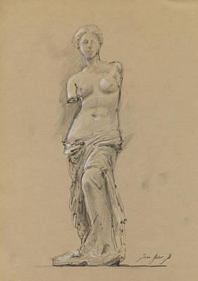 Louvre Painting - Venus De Milo by Juan Bosco