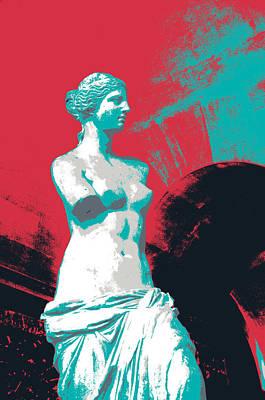 Louvre Mixed Media - Venus De Milo  by Shay Culligan